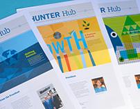 Hunter Hub: HR Newsletter Rebrand