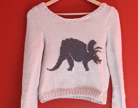 Handknitted Dinosaur Jumpers