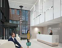 Interior design for a brand new business center
