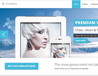 Snowflake Premium Bootstrap Website Template
