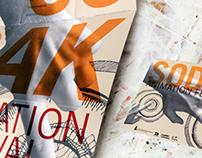 SoDak Animation Festival Mailer Poster and Postcard
