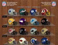 NFL Football Helmet Icons
