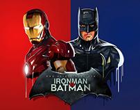 Ironman Vs Batman (low/high poly illustration)
