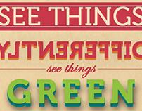 See Things Differently, See Things GREEN