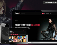 Camara - Responsive Parallax Single Page Site Template