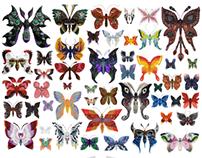 Raku Inoue's incredible polymer butterflies and more