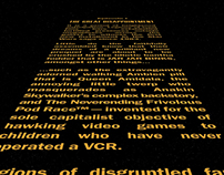 Star Wars Prequel Opening Text Crawls