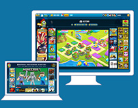 Kizi Pages layout UX/UI