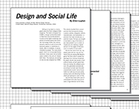 Design & Social Life - Type Layout Exercise