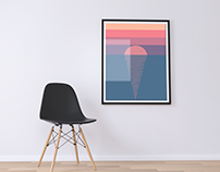 Sunrise. Minimalistic Poster