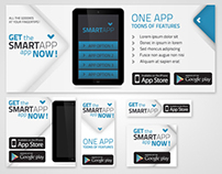 Mobile App Promotion Web Banners