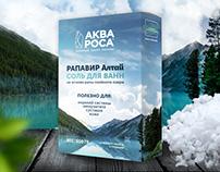 Package of sea salt for baths