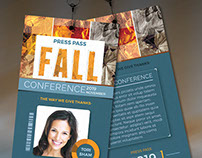 Fall Conference Press Pass Template
