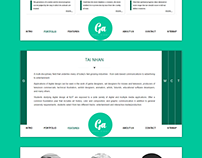 WEB LAYOUT DESIGN - GREEN MINT