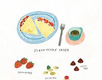 Strawberry Crepe / Kyobo Life