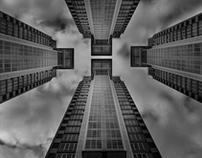Touch the sky.  Fine Art Architecture (monotone)