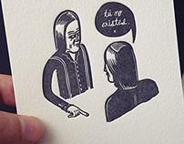 TÚ NO EXISTES {letterpress}