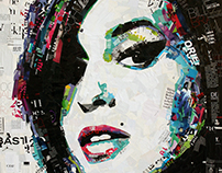Amy Jade Winehouse / Fashion magazines collage