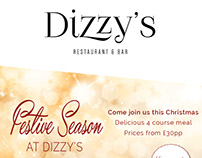 Seasonal Leaflet for 'Dizzys Restaurant and bar'