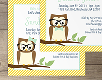 Owl Baby Shower Invites (7)