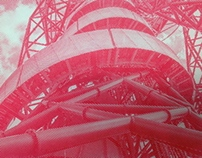 Halftone print of the ArcelorMittal Orbit