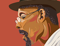 Linton Kwesi Johnson, portrait.
