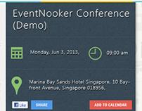 EventNook.com Event page design revamp