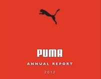Proposed design for PUMA 2012 Annual Report