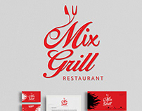 Mix Grill Restaurant Logo and Branding