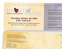 Heart of Bates Awards Dinner Promotional Material