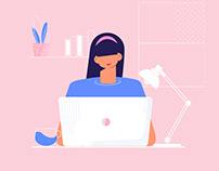 Working Girl Illustration