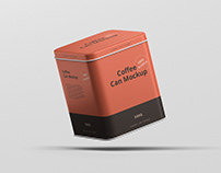 Coffee Tin Can Mockup Square