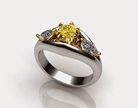 Jewelry Design+Rendering in Rhino & Matrix