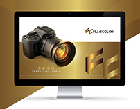 Filmscolor logo & card & web page