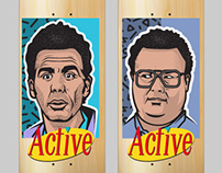 Active RideShop Skateboard Design - Seinfeld Series