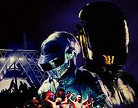 Daft Punk Retro Poster