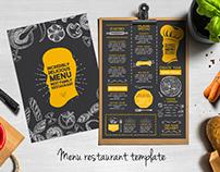 Menu restaurant brochure