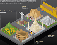 Infographics. New 7 wonders