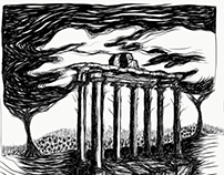 Digital sketch of the Temple of Saturn