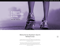 Northern Storm Netball Club Website