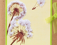 Wedding invitation -Dandelions