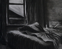 """The Unseen"" A series made from chalk and charcoal"
