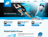 Fit Bottle - Website Design
