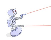 Robot with lasers