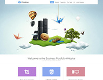 Creative - Portfolio WordPress Theme Parallax Effect