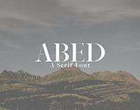 Abed - Free Serif Font