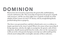 DOMINION- Corporations own plant, animal, and Human DNA