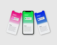 Animated iPhone 11 Pro App Mockup