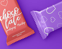 Chocolate / Candy Bar Packaging Mockup