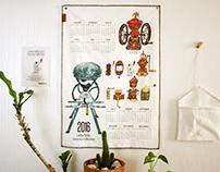 2016 Terarosa's Yearly Fabric Calendar